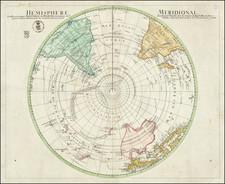 Polar Maps and Australia Map By Leonhard Euler