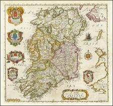 Ireland Map By Richard Blome
