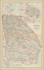 Georgia Map By Frank A. Gray