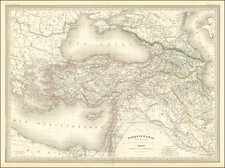 Ukraine, Turkey, Central Asia & Caucasus, Middle East and Turkey & Asia Minor Map By Adolphe Hippolyte Dufour