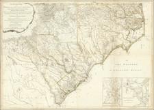North Carolina and South Carolina Map By Henry Mouzon