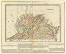 Geographical, Statistical, and Historical Map of Virginia By Henry Charles Carey  &  Isaac Lea