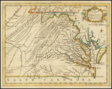 West Virginia, Southeast and Virginia Map By London Magazine
