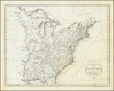 An Accurate Map of the United States of America according to the Treaty of Peace of 1783 By John Reid
