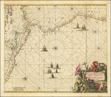 Mexico, Central America and South America Map By Frederick De Wit