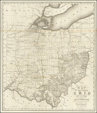 Ohio Map By Caleb Atwater