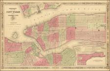 Johnson's Map of New York and the Adjacent Cities By Alvin Jewett Johnson  &  Benjamin P Ward