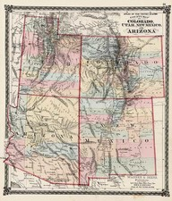 Southwest and Rocky Mountains Map By H.H. Lloyd  &  Warner & Beers