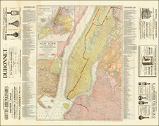 New York City Map By Jules Roussel / Rand McNally & Company