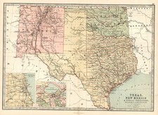 Texas, Plains and Southwest Map By T. Ellwood Zell
