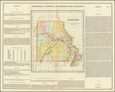 Missouri Map By Henry Charles Carey  &  Isaac Lea