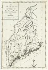 Maine Map By John Reid