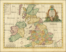British Isles Map By Edward Wells