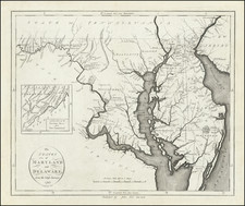 Maryland and Delaware Map By John Reid