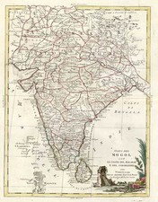 Asia and India Map By Antonio Zatta