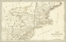 New England, New York State, Mid-Atlantic and Pennsylvania Map By Francois A.F. La Rochefoucault-Liancourt