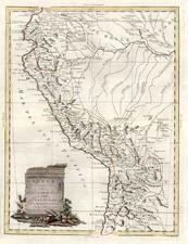 South America Map By Antonio Zatta