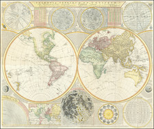 World and Celestial Maps Map By Samuel Dunn