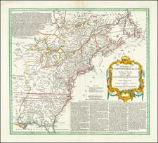 America Septentrionalis a Domino d'Anville in Galliis edita nunc in Anglia Coloniis in Interiorem Virginiam .  . . 1756 By Homann Heirs