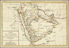 Middle East and Arabian Peninsula Map By Louis Brion de la Tour
