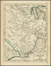 Cours Du Mississipi et La Louisiane . . . 1749 By Gilles Robert de Vaugondy