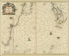 Atlantic Ocean, New England, Caribbean and Brazil Map By Johannes van Loon