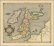 Europe and British Isles Map By Gerard Mercator