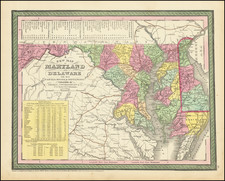 Maryland and Delaware Map By Thomas, Cowperthwait & Co.