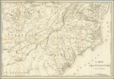 Kentucky, Tennessee, Virginia, Georgia, North Carolina and South Carolina Map By Francois A.F. La Rochefoucault-Liancourt