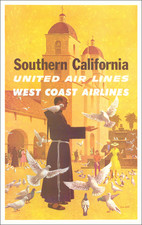 California, Los Angeles, San Diego and Travel Posters Map By Stan Galli