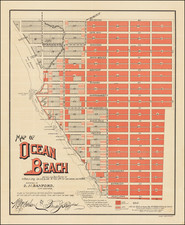 San Diego and Other California Cities Map By O. N. Sanford