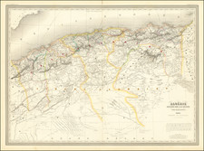 North Africa Map By Adolphe Hippolyte Dufour