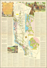 Pictorial Maps and California Map By