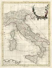 Europe, Italy, Mediterranean and Balearic Islands Map By Antonio Zatta