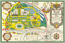 British Isles, London and Pictorial Maps Map By Kennedy North