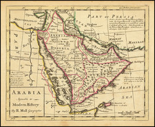 Middle East and Arabian Peninsula Map By