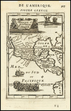 Texas, Southwest, Rocky Mountains and Mexico Map By Alain Manesson Mallet