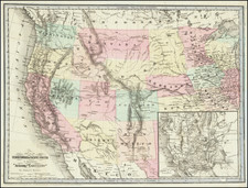 United States, Southwest, Rocky Mountains, Pacific Northwest and California Map By J.H. Goldthwait
