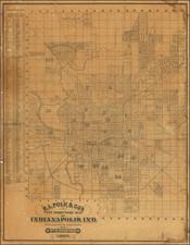 Indiana Map By R.L. Polk / William B. Burford