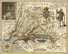 Maryland, Southeast and Virginia Map By John Smith