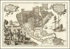 North America, Baja California and California Map By Heinrich Scherer