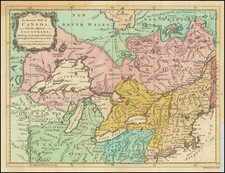 New England, New York State, Midwest, American Revolution and Canada Map By Universal Magazine