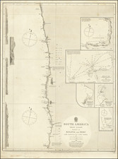 Peru & Ecuador Map By British Admiralty