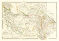 India, Central Asia & Caucasus, Middle East and Persia & Iraq Map By John Arrowsmith
