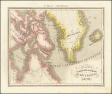 Polar Maps, Iceland and Canada Map By Francesco Marmocchi