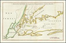 New York City and New York State Map By Gentleman's Magazine