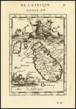 Malta Map By Alain Manesson Mallet