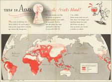 World, World War II, Curiosities and RBMS FAIR 2021 Map By Theodor Seuss Geisel / Newsmap