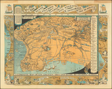 Pictorial Maps, California and Los Angeles Map By Mary Hall Atwood