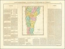 Vermont Map By Jean Alexandre Buchon